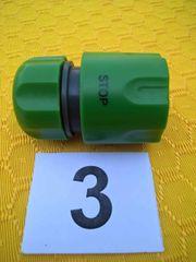 Wasserschlauch- Schnellanschluß Adapter mit Auto-Stop