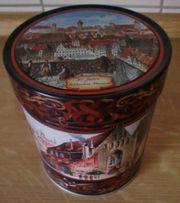 dekorative Blech-Lebkuchendose 14cm hoch mit