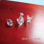 3 Swarovski Glasfiguren