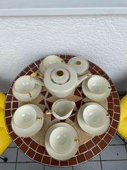 Hutschenreuther Kaffeeservice 8768 Goldrand