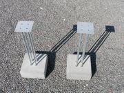 2 Boxenständer Beton Metall silber