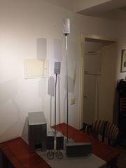 Home Cinema Lautsprecher System silbergrau