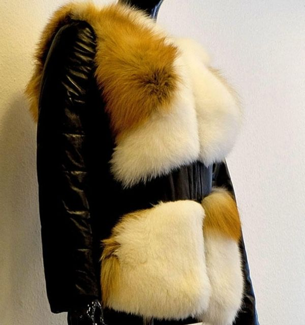 Damen Lederjacke mit echtem Pelz - Dortmund Barop - Damen Lederjacke mit echtem Pelz, Jacke Transformer- Ärmel sind abnehmbar, kann man wie Weste auch tragen. - Dortmund Barop