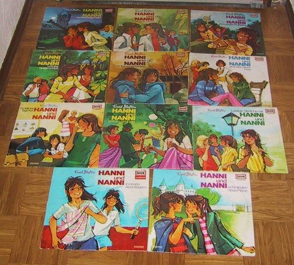 verschiedene Hanni und Nanni Schallplatten