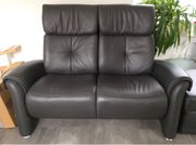 Himolla 2 Sitzer Leder Couch