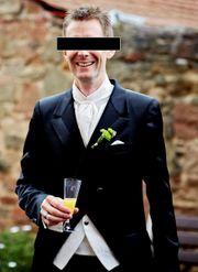 Italienischer Designer Cutaway Hochzeitsanzug Neupreis