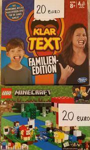 Minecraft Lego und Klartext Familien-edition