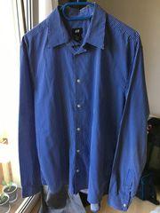 H M Hemd blau weiß