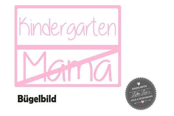 Bügelbild Kindergarten Mama Kita Kiga