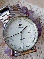 Herren-Marken-Armbanduhr Datum mehrfach verstellbares Edelstahl-Gliederarmband