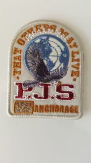 orig weiss Parajumpers PJS Patch