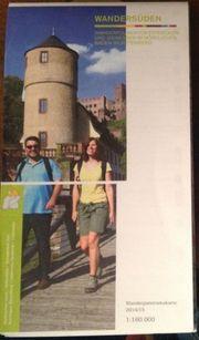 Baden Württemberg Wanderkarte zu verschenken
