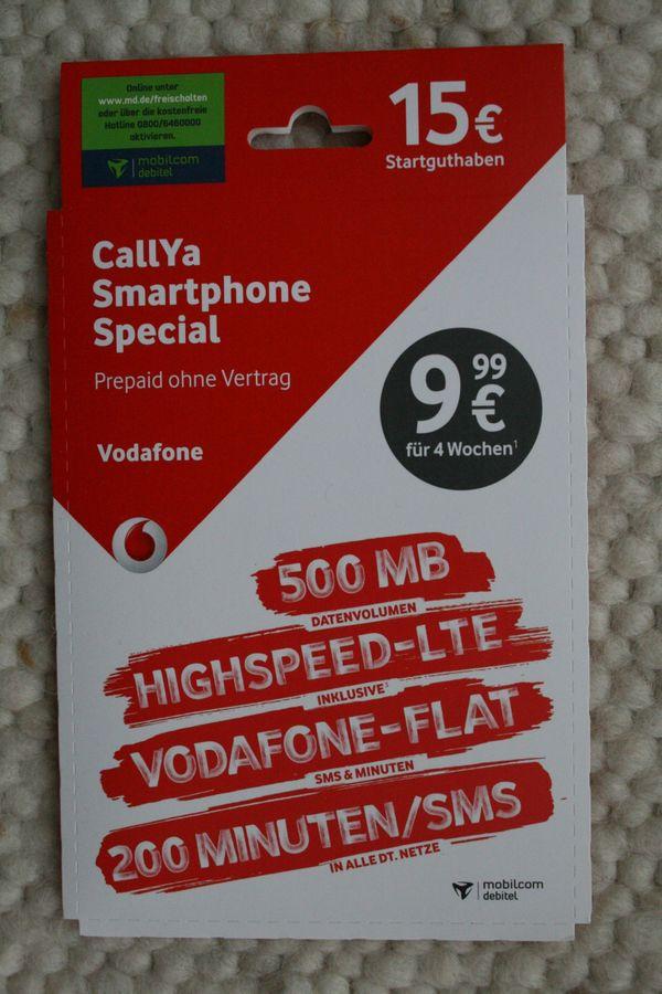 Neue Sim Karte.Talk Sms Callya Smartphone Special 10 Neue Unbenutzte