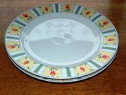 Kuchenteller Plate Porzellan Genua by
