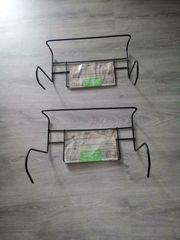 2 Balkonkasten Halterung Metall bis