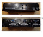 Dual KVM-Switch 2-fach DVI VGA