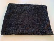 Stoffrest Jersey schwarz durchsichtig mit