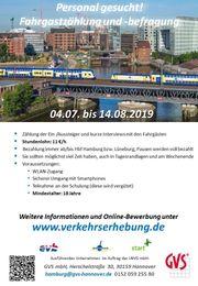 Nebenjob Fahrgastbefragung ab Hamburg