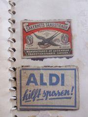 alte Sammelbilder Sammelalbum Streichholzetiketten Zigarrenbanderolen