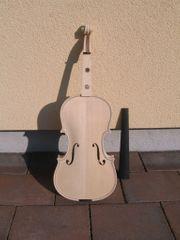 Geige Violine Violin unlackiert weiß