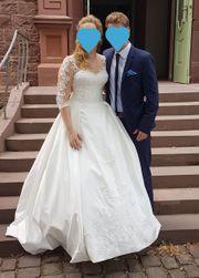 Wunderschönes Brautkleid Hochzeitskleid cremeweiß im