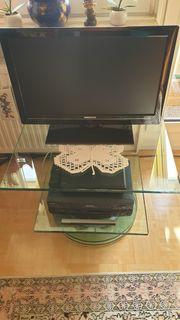 Drehbarer Glasfernsehtisch