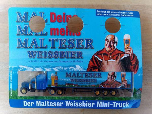 Werbetruck Minitruck Malteser Weissbier von