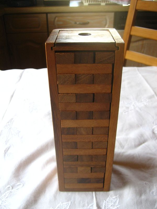 Stapelturm Wackelturm Stapelspiel Holz JENGA