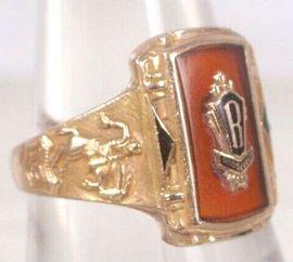Schmuck, Brillen, Edelmetalle - RING GOLD USA ROOSEVELT HIGH