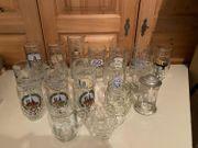 Diverse Glaskrüge ca 18Stk verschiedene