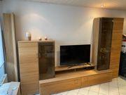 Hochwertige Wohnwand Wohnzimmerschrank aus Eiche