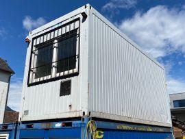 Baucontainer Baustellen Büro Garten Container mit Windfang Hühnerstall möglich