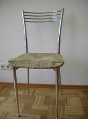 2 Küchenstühle Rahmen Metall Sitzfläche