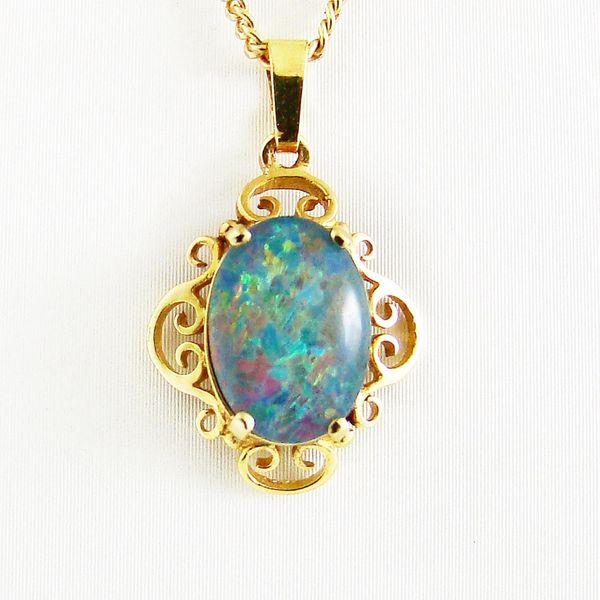 Anhänger Gold 333er Gold Opal