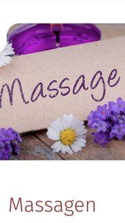 Eine Massage mit warmen Öl