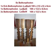 Holzbalkon Balkonpfosten Balkongeländer Balkon Holz