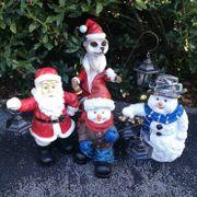 Weihnachtsfiguren mit Laterne 49 cm