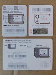 SIM-Karten Trio