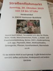 Straßenflohmarkt in Hannover Bothfeld