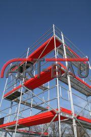 351m² Gerüst mit Stahl-Rahmen und