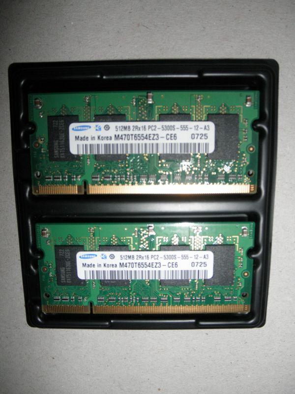 Arbeitsspeicher für Laptops 1 GB