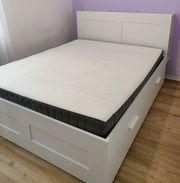 Ikea Brimnes Bett komplett verwendet