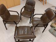 Leder Esszimmerstühle