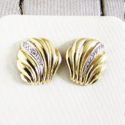 Ohrringe Gold 333er Bicolor Diamant