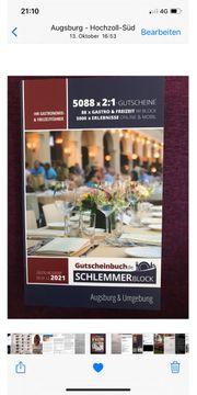 Gutscheinbuch Schlemmerblock Augsburg Umgebung 2021