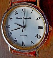 Sehr flache Marken-Armbanduhr Edelstahl mit