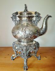 Silber Teekanne barocke Form mit