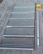Treppen aus verzinktem Gitter
