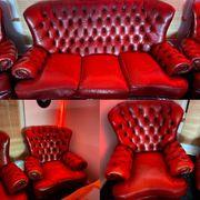 Chesterfield Sofa Garnitur 3 1