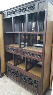 NEU Bücherregal im Kolonialstil mit